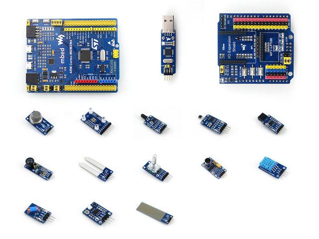 STM32 Junta de Desarrollo ARM Cortex M4 STM32F302R8T6 + ST ENLACE módulo + IO Expansión Shield + Sensores = XNUCLEO-F302R8 Paquete un