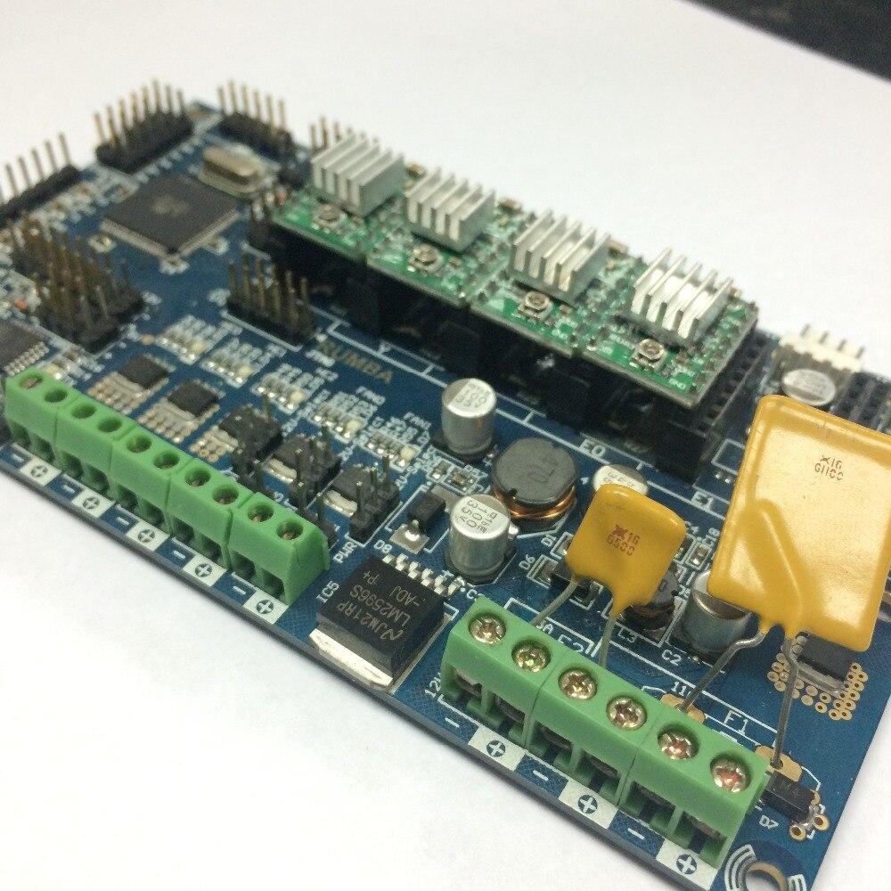 3D Imprimante Kits RepRap Conseil Rumba Avec 6 pcs DRV8825/4988 Pas À Pas Pilote RAMPES 1.4 Mendel Conseil