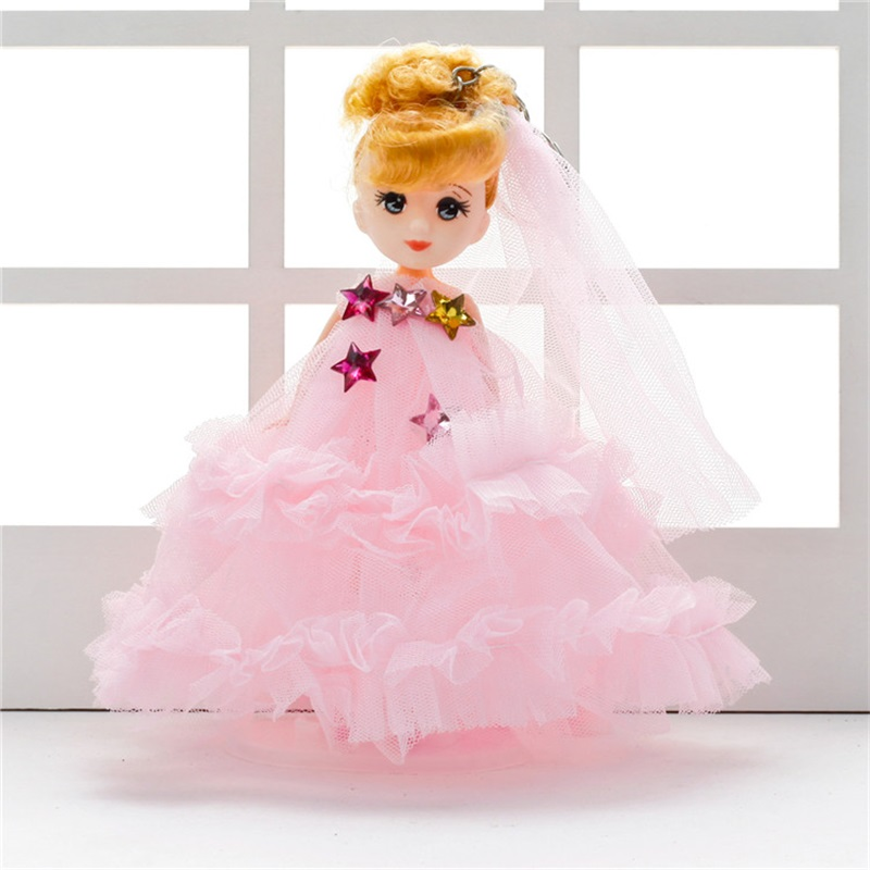 18cm handmade confused wedding dress baby dolls small pendant keychain creative gifts for Valentines Day Chrismas birthday
