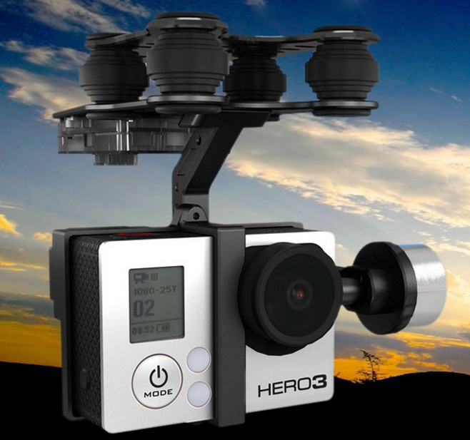 Walkera G-2D Aluminum Brushless Gimbal PTZ for iLook / GoPro Hero 3 Black on FPV Quadcopter Drone Free shipping walkera g 2d camera gimbal for ilook ilook gopro 3 plastic version