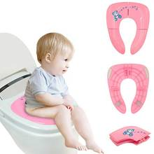 Cute Convenient Folding Plastic Toilet Seat Cover