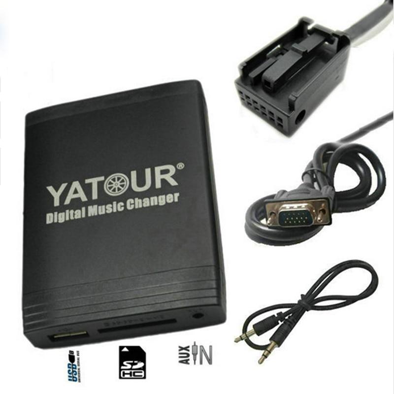 Yatour for Peugeot 307 407 807 C4 C5 USB MP3 Bluetooth Radio Adapter Digital Music Changer