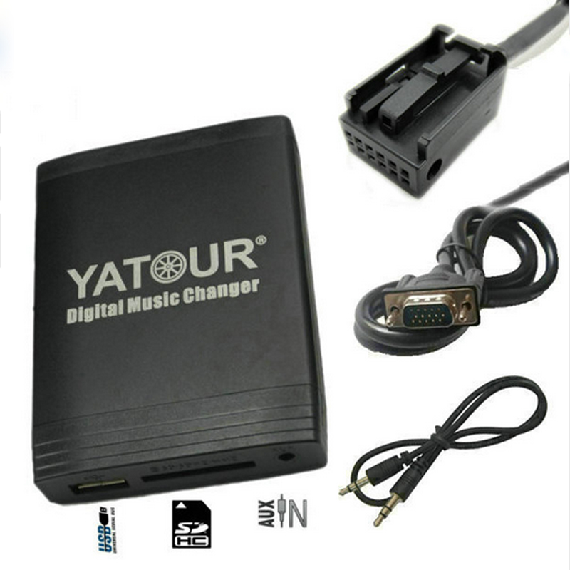 New Yatour USB SD AUX adapter for Peugeot Citroen RD4 RT4 RT3 Can-bus Digital MP3 media player CD Changer alternative emul car usb sd aux adapter digital music changer mp3 converter for volvo s60 1999 2009 fits select oem radios