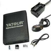 Yatour for Peugeot 307 407 807 C4 C5 USB MP3 Bluetooth Radio Adapter Digital Music Changer YT M06 AUX for Citroen C2 C3 C4 C5 C8