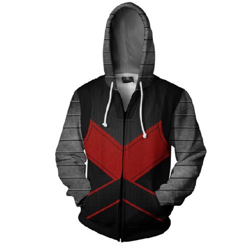BIANYILONG 2019 nova Outono Inverno 3D Colosso de Impressão Moletons Hoodies Moda Cosplay Zipper Jaqueta com capuz vestuário tops