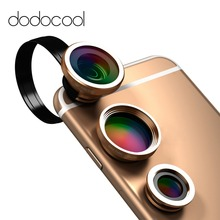 dodocool fisheye lens 3 in 1  phone Fish Eye Lens/0.67X Wide Angle/10X Macro Camera Lens for iPhone 6S plus Samsung xiaomi redmi