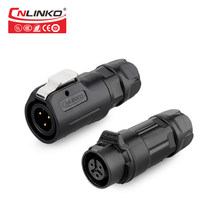 Cnlinko M12 3 Pin Plastik 5 Plug dan Socket Pria Wanita WaterproofIP67 Panel Konektor Power(China)