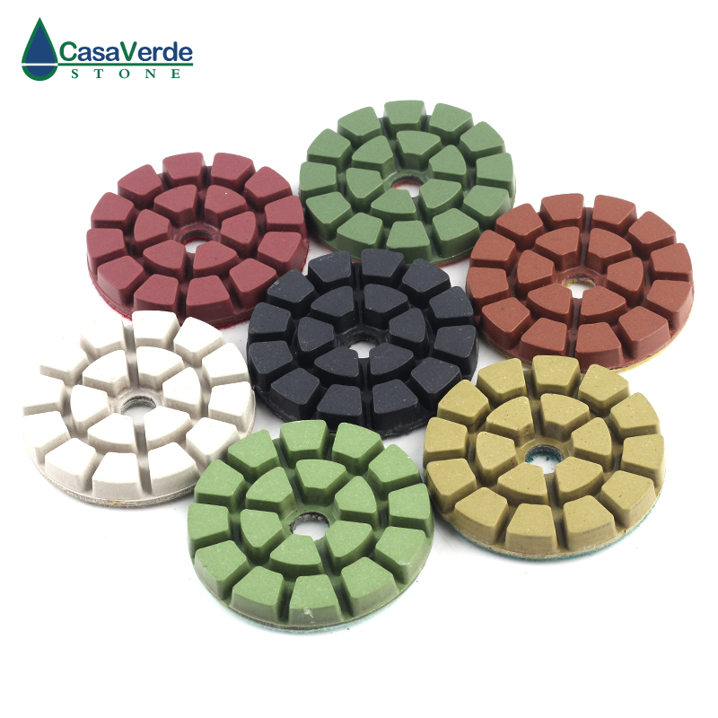 Livraison gratuite tampons de polissage de sol en diamant humide 3 pouces 80mm pour polir le tampon abrasif de sol en marbre de béton de granit