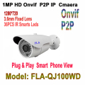 HD IP Camera Video Surveillance Outdoor 720P Night Vision ONVIF H.264 Motion Detection Email Alert Remote View Via Smart Phone