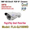 Ip hd câmera de vigilância de vídeo ao ar livre 720 p night vision onvif h.264 motion detection alerta e-mail ver remoto via inteligente telefone