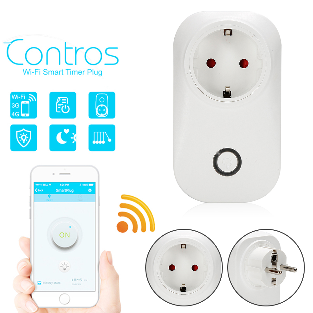 Hot selling Sonoff S20 Smart Home Charging Adapter Wireless Smart Switch WIFI Remote Control Power Socket EU/US/UK Standard sonoff touch wall wifi light switch us eu intelligent glass panel smart home wireless remote switch control via by phone