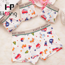 4pcs/lot boys boxer Children Underwear Student Underpants baby Cartoon colorful car Boy Short Briefs Kids Panties 2-10Y