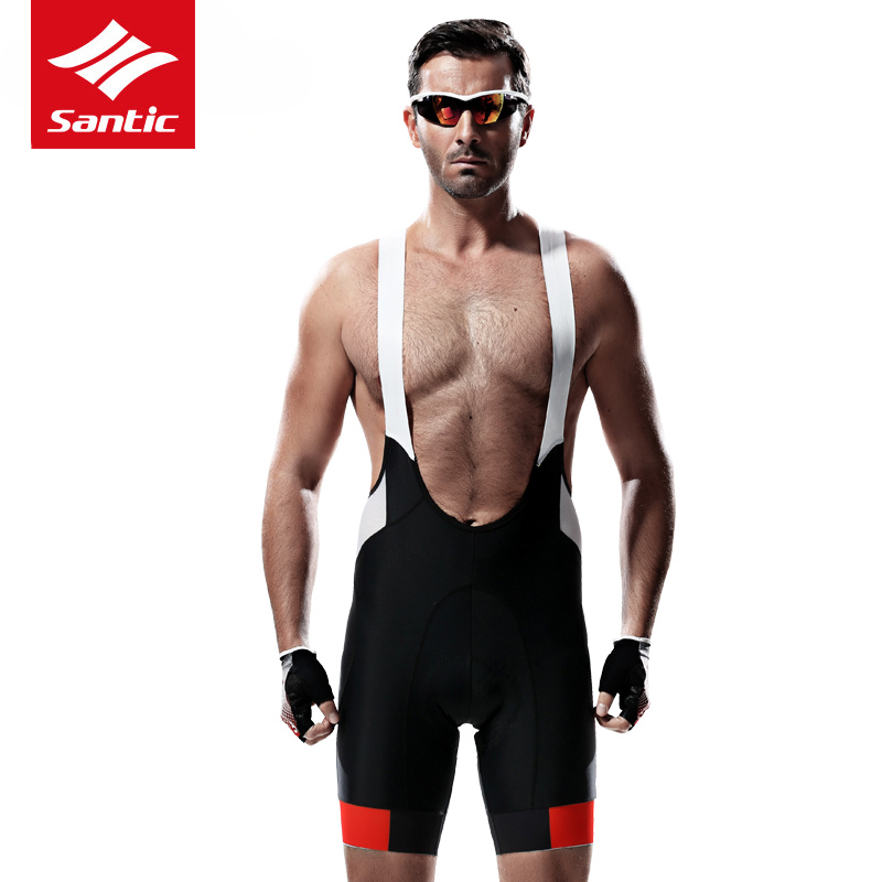 Original Santic Mens Cycling Shorts 4D Padded Spandex MTB Shorts Breathable Mesh Mountain Road Bicycle Bike Shorts Ciclismo 2017 santic cycling shorts men bib shorts 4d padded quick dry breathable mesh mountain road bicycle bike shorts ciclismo original