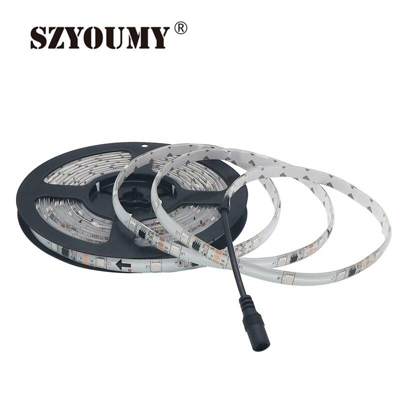 Szyoumy Светодиодные ленты свет WS 2811 12 В 30 светодиодов/M 5050 SMD RGB Мечта Magic автоматическое изменение Цвет гибкие ленты Освещение
