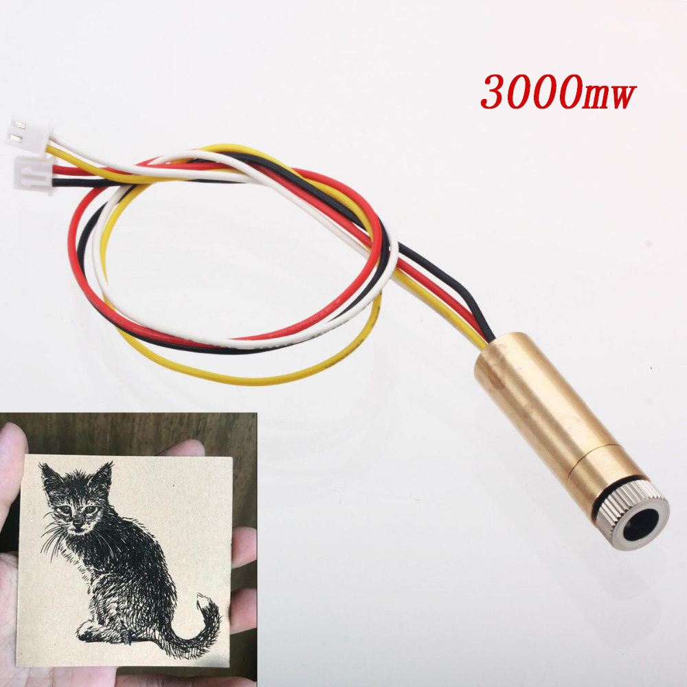 3000mw 4pin Ttl/pwm Control 445nm Laser Head Replace Kit For Neje Dk-8-kz Dk-8-fkz Dk-bl Laser Engraver