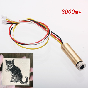 Image 1 - 3000mw 4pin ttl/pwm control 445nm laser head replace kit for neje dk 8 kz dk 8 fkz dk bl laser engraver