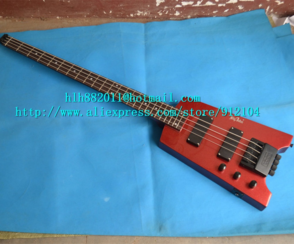 free shipping new brand Big John 4 strings left hand headless electric bass guitar in wine red with basswood body  F-3146 human 2016 china hot guitar electric guitar blue left hand guitar piano integrally headstock free shipping