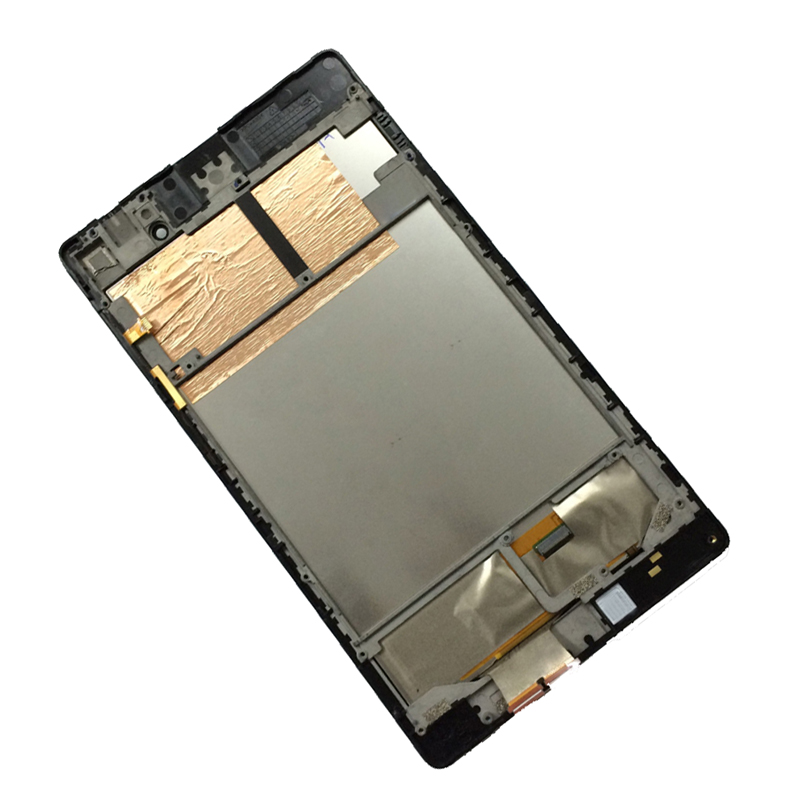 For Asus Nexus 7 2nd ME572 ME572C ME572CL Touch Screen Digitizer Sensor Glass Panel + LCD Display Panel Monitor Assembly Frame srjtek lcd display panel screen monitor touch screen digitizer sensor glass with frame for asus vivotab note 8 m80ta m80t
