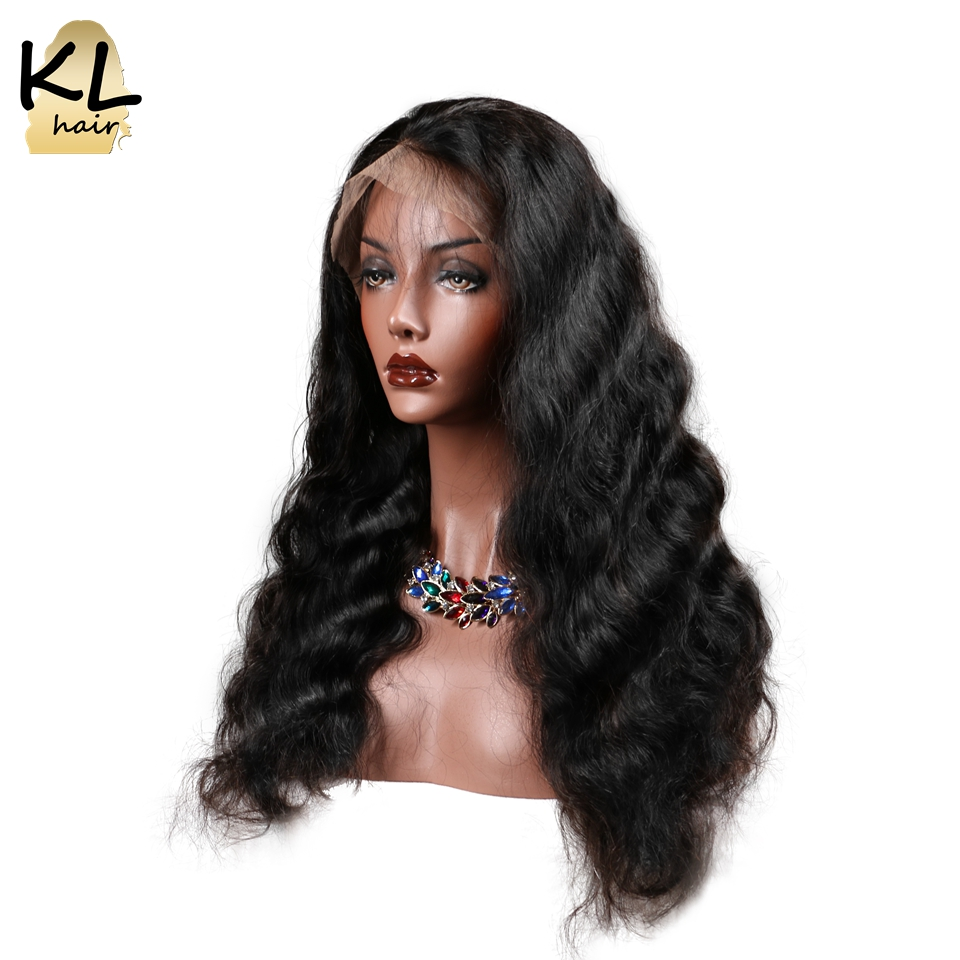 KL Hair Lace Front Human Hair Wigs Body Wave Natural Color Brazilian Remy Hair Lace Wigs For Black Women With Baby Hair