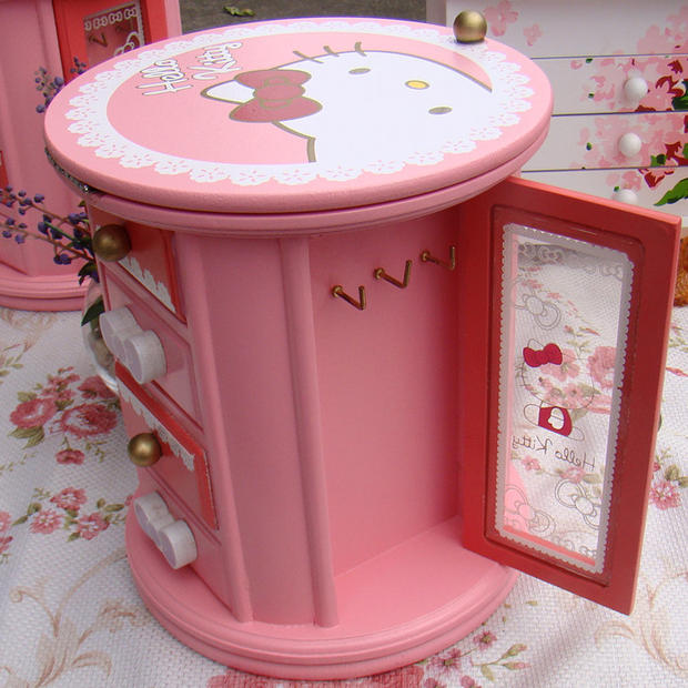 Organizer Casket Jewelry Box Hello Kitty Casket Girl Gift Ring