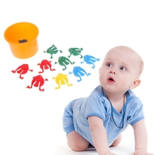 hot deal buy novelty 10pcs baby toy action toy figures jumping frogs assorted hopper game