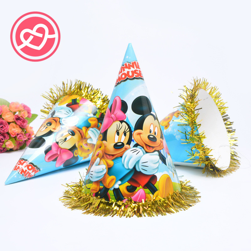 mickey minnie mouse happy birthday party hats caps baby shower christmas party decorations photograph decoration kids gifts in party diy decorations from - Mickey Mouse Christmas Party Decorations