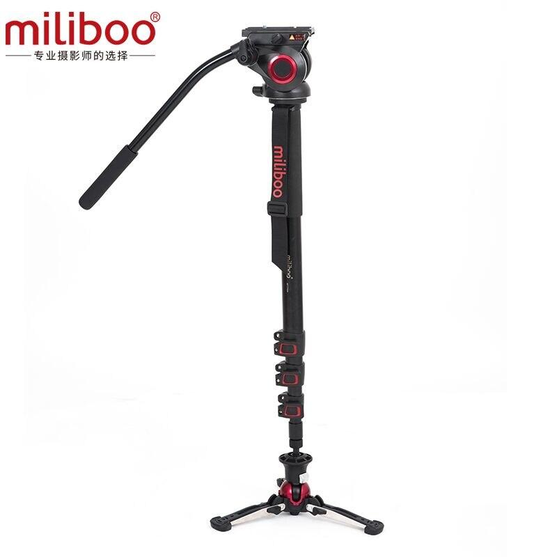 miliboo Upgaded Aluminum Carbon fiber Professional Monopod with Hydraulic Head Mini Tripod Unipod Holder stand Manfrotto Travel