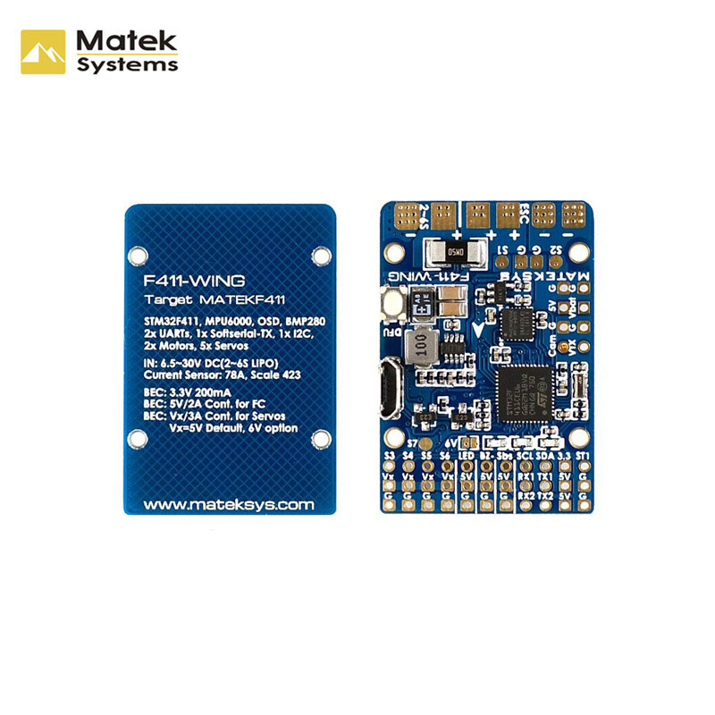 Matek Systems F411-WING (New) STM32F411 Flight Controller Built-in OSD for RC Airplane Spare Part Replacement Accessories body craft для f410 f411