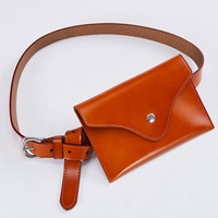Fashion New Oil Genuine Leather Simple Waist Bags Designer Chest Bag Retro Fanny Packs Real Cow