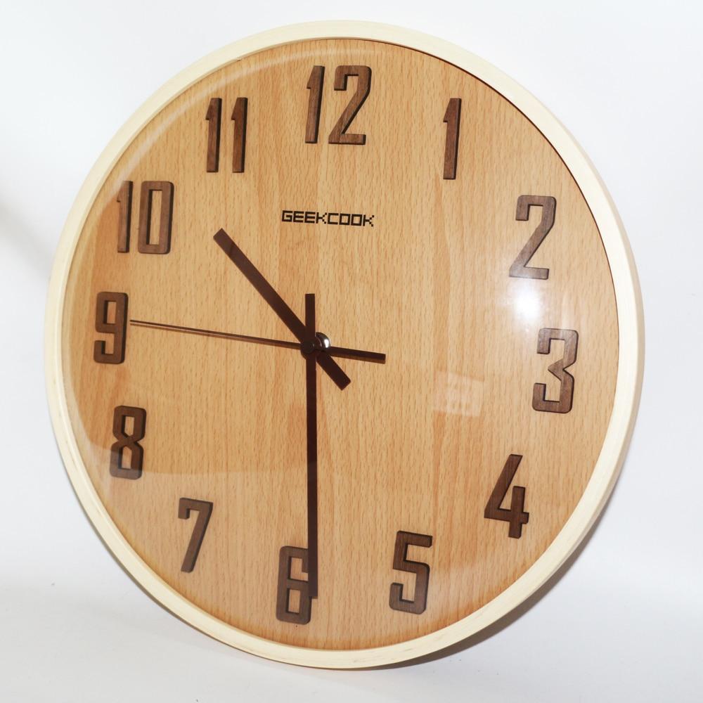 Grande De 12 Pulgadas De Madera Relojes De Pared Retro Cuarzo  ~ Relojes Grandes De Pared Vintage