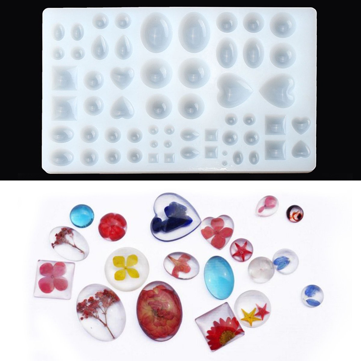 Silicone Mould Cabochon Jewelry Casting DIY Stencils for Pendant Key Chain Handmade Craft