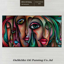 Beautiful classic abstract painting portraits of the famous and beautiful decorations pure hand-painted oil in  canvas