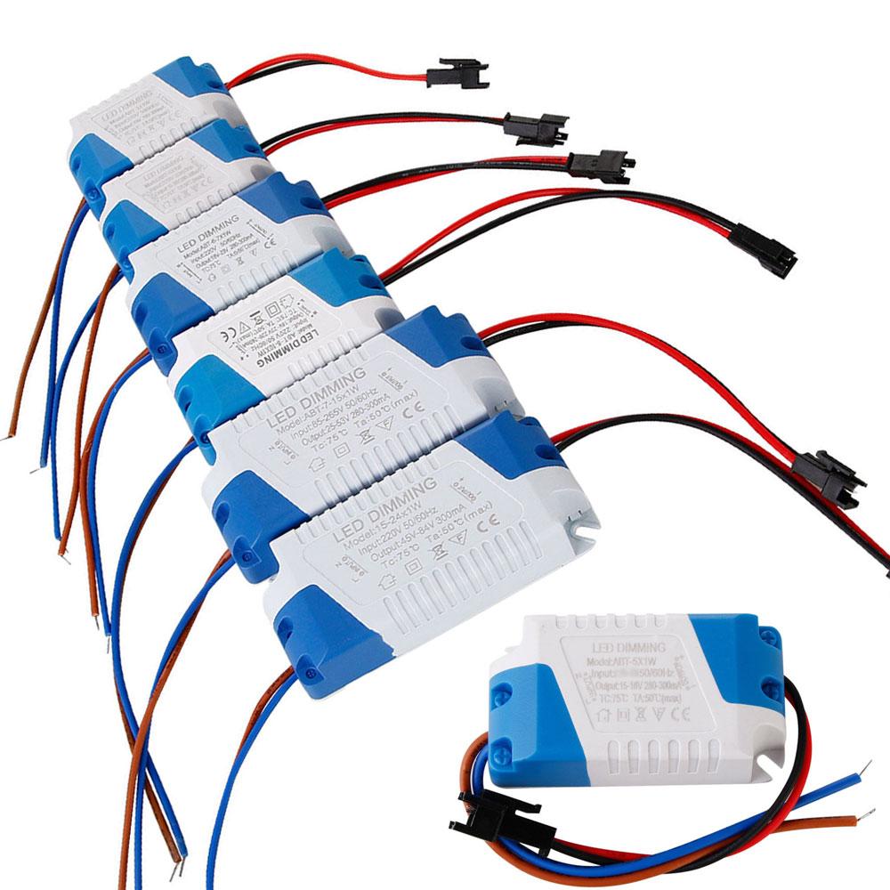 Высококачественный светодиодный адаптер питания с регулируемой яркостью, 3 Вт, 5 Вт, 7 Вт, 8-10 Вт, 15 Вт, 15-24 Вт, трансформатор, 300 мА, светодиодный ...