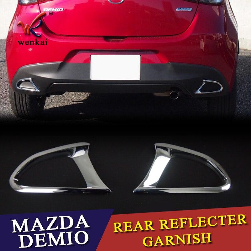 For Mazda 2 Demio DJ 2014-2018 Hatchback Chrome Rear Fog Light Lamp Cover Trim