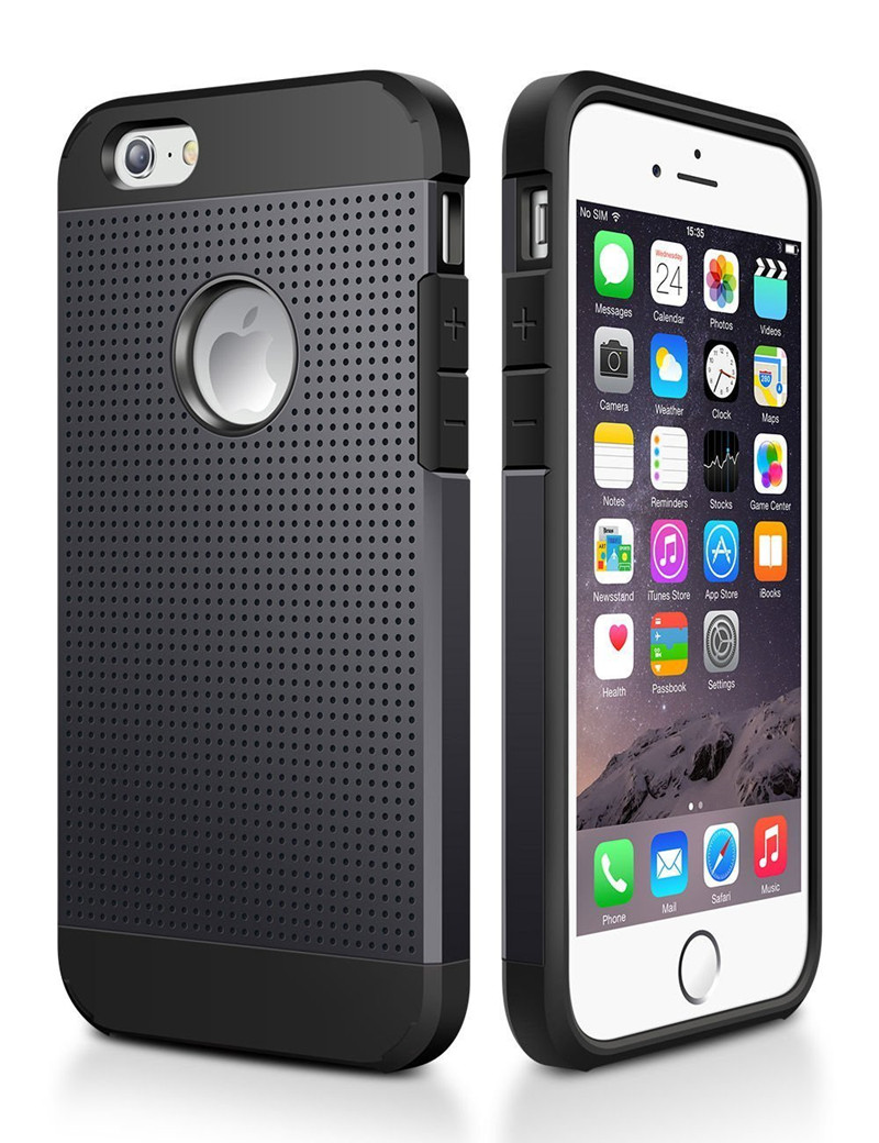 Iphone 6 S 6S Plus հիբրիդային սիլիկոնային - Բջջային հեռախոսի պարագաներ և պահեստամասեր - Լուսանկար 2