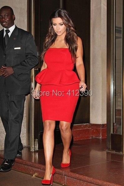 Popular Short Red Strapless Dress-Buy Cheap Short Red Strapless ...