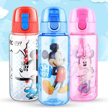 Disney 450ML Mickey Mouse Cartoon proste kubki na napoje dla dzieci piękne sportowe butelki stałe karmienie kubki na wodę tanie i dobre opinie Drinkware Z tworzywa sztucznego 420 ml GX-5844 5862