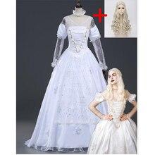 Alice in Wonderland white queen cosplay costume
