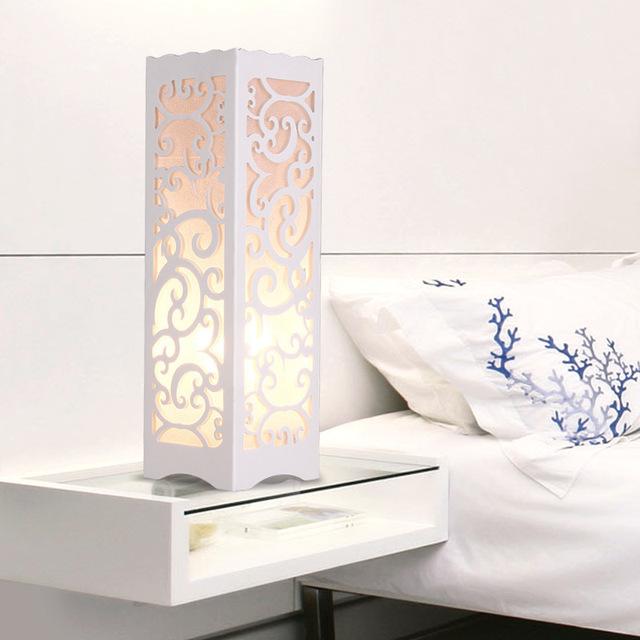 Contratada Criativo Lâmpada de Mesa Gravura Flor Candeeiro de mesa Na Sala de estar/Quarto/sala de Estudo