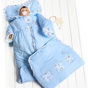 Newborn baby sleeping bag autumn and winter thickening thermal bag 100% cotton infant sleeping blanket