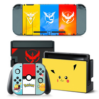yellow orange blue background cartoon style skin for Nintendo Switch skins Stickers  #TN-switch-0019