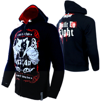 VSZAP Warm Winter Boxing T Shirt Hoodie Tracksuits MMA Clothing Breathable Cotton Fight Muay Thai MMA
