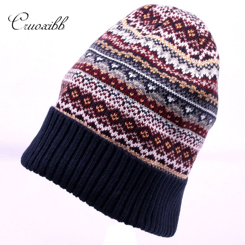 Cruoxibb Winter Knitted Hat For Women Casual Skullies Beanies Crochet Hats Female Warm  Mix Color  Gorros Femme caps winter hat casual unsex knitted hats for men baggy beanie hat crochet slouchy oversized caps warm skullies toucas gorros