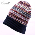 Cruoxibb Winter Knitted Hat For Women Casual Skullies Beanies Crochet Hats Female Warm  Mix Color  Gorros Femme caps