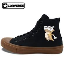 Converse Chuck Taylor II Black White Shoes Men Women Skateboarding Shoes Anime Pokemon Cubone Canvas Sneakers