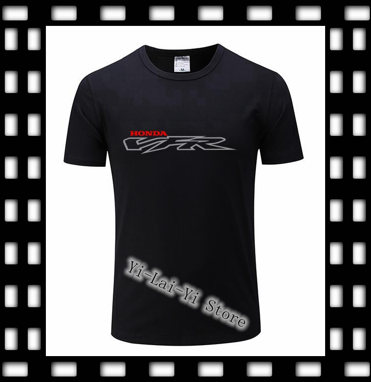 Brand New 2019 Men 100% cotton TShirt <font><b>VFR</b></font> <font><b>750</b></font> 800 V4 Motorcycle Printed 15Color T Shirt Size-XS-XXXL Men's T-Shirt image