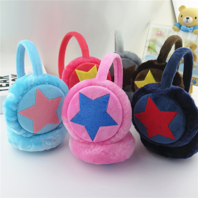 Cute Star Warm Knitted Earmuff Baby Cache Oreilles Child Ear Muffs For Boy Earmuffs For Girls Baby Gift Ear Warmers Winter H256