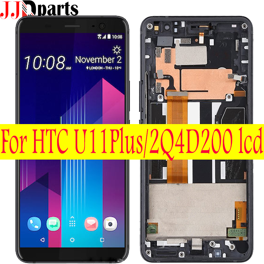 6 0 For HTC U11 U11 Plus LCD Screen Display Touch Screen Digitizer With frame For
