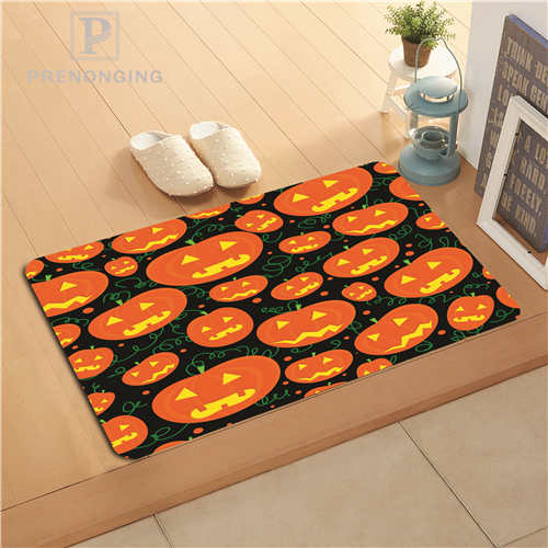 Custom Pumpkin Witch Doormat Print slip-resistant Mats Floor Bedroom Living Room Rugs 40x60cm 50x80cm Free Shipping 171128-7