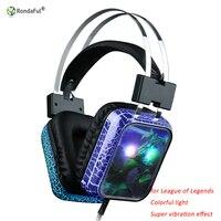 Glänzende Gaming Headset für Computer Gaming Headset Kontrabass Elektronische Sport Headset Mit Mikrofon Strahlend